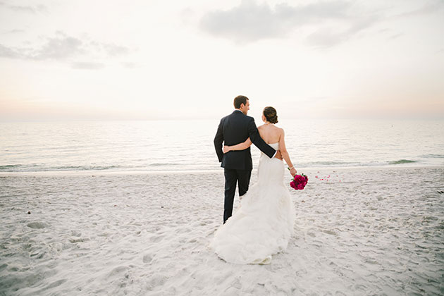 A Super Elegant Halloween Wedding On The Beach In Naples Florida