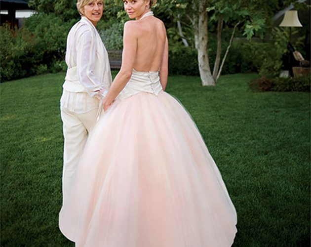 a look back at ellen degeneres and portia de rossis